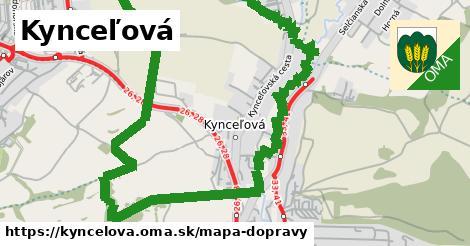 ikona Kynceľová: 1,78km trás mapa-dopravy  kyncelova