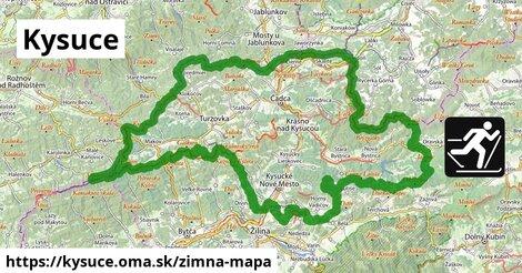 ikona Kysuce: 194km trás zimna-mapa  kysuce