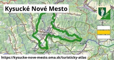 ikona Kysucké Nové Mesto: 19km trás turisticky-atlas  kysucke-nove-mesto