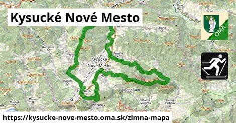 ikona Kysucké Nové Mesto: 3,5km trás zimna-mapa  kysucke-nove-mesto