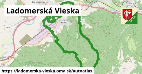 ikona Mapa autoatlas  ladomerska-vieska