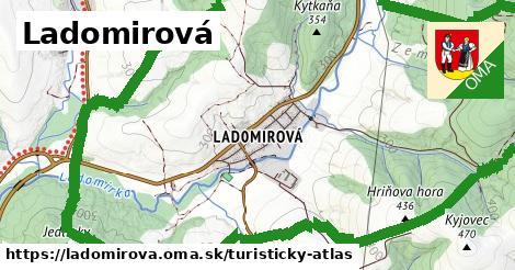 ikona Turistická mapa turisticky-atlas  ladomirova