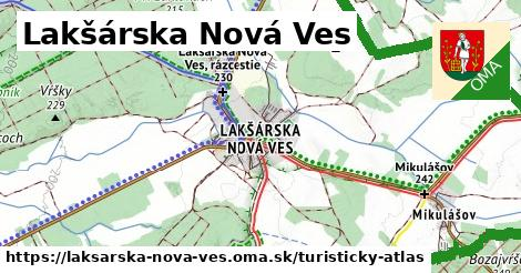 ikona Turistická mapa turisticky-atlas  laksarska-nova-ves