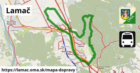 ikona Lamač: 204km trás mapa-dopravy  lamac