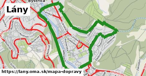 ikona Lány: 45km trás mapa-dopravy v lany