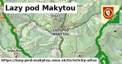 ikona Lazy pod Makytou: 34km trás turisticky-atlas  lazy-pod-makytou