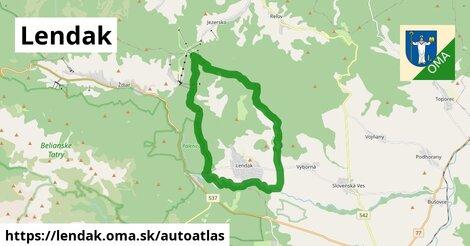 ikona Mapa autoatlas  lendak
