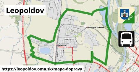 ikona Leopoldov: 7,7km trás mapa-dopravy  leopoldov