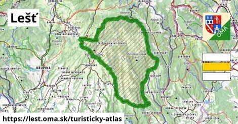 ikona Turistická mapa turisticky-atlas  lest