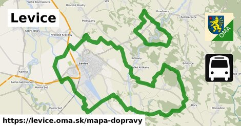 ikona Levice: 5,1km trás mapa-dopravy v levice