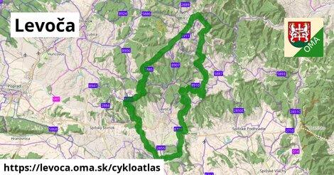 ikona Levoča: 74km trás cykloatlas  levoca