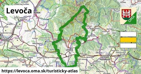 ikona Levoča: 64km trás turisticky-atlas  levoca