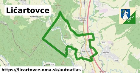 ikona Mapa autoatlas  licartovce