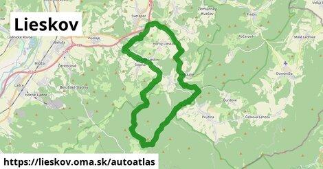 ikona Mapa autoatlas  lieskov