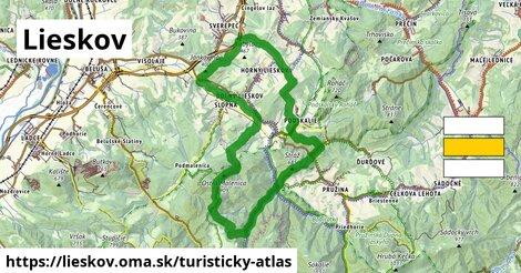 ikona Turistická mapa turisticky-atlas  lieskov