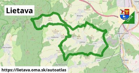 ikona Mapa autoatlas  lietava