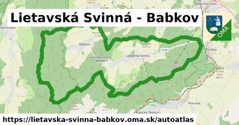 ikona Mapa autoatlas  lietavska-svinna-babkov