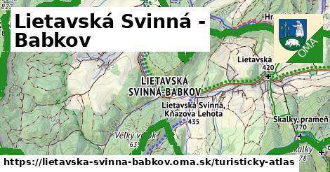 ikona Turistická mapa turisticky-atlas  lietavska-svinna-babkov