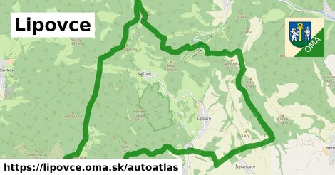 ikona Mapa autoatlas  lipovce
