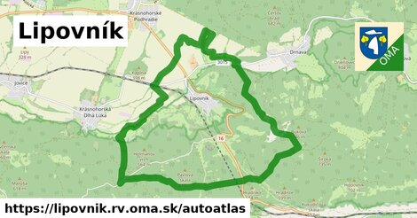 ikona Mapa autoatlas  lipovnik.rv