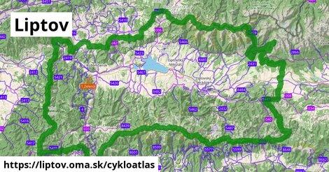 ikona Liptov: 647km trás cykloatlas  liptov
