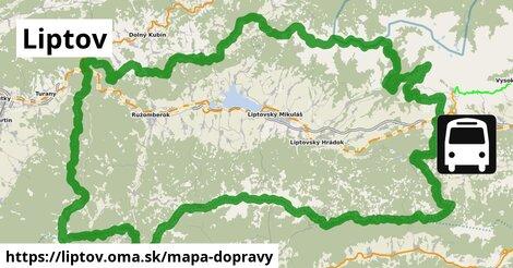 ikona Liptov: 316km trás mapa-dopravy  liptov
