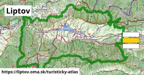 ikona Liptov: 989km trás turisticky-atlas  liptov