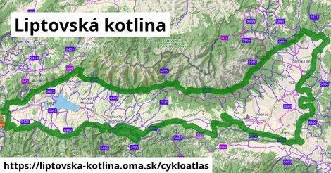 ikona Liptovská kotlina: 288km trás cykloatlas  liptovska-kotlina