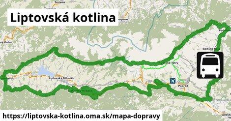 ikona Liptovská kotlina: 94km trás mapa-dopravy  liptovska-kotlina