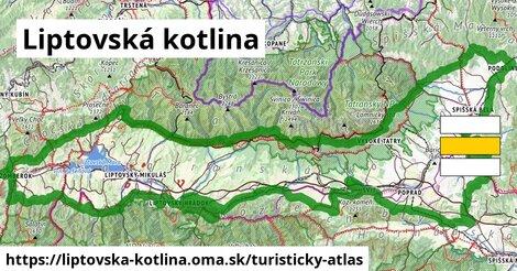 ikona Turistická mapa turisticky-atlas  liptovska-kotlina