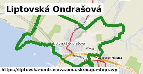 ikona Liptovská Ondrašová: 10,0km trás mapa-dopravy  liptovska-ondrasova