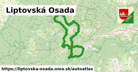 ikona Mapa autoatlas  liptovska-osada