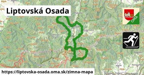 ikona Liptovská Osada: 9,9km trás zimna-mapa v liptovska-osada