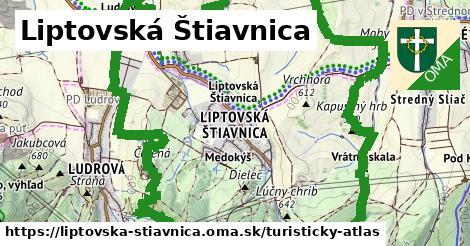 ikona Turistická mapa turisticky-atlas  liptovska-stiavnica