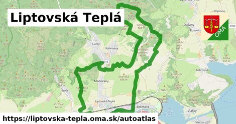 ikona Mapa autoatlas  liptovska-tepla