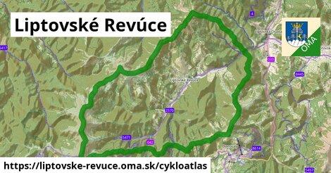 ikona Liptovské Revúce: 34km trás cykloatlas  liptovske-revuce