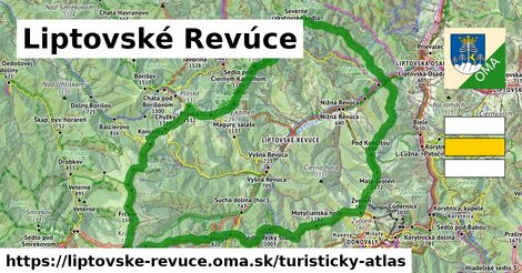 ikona Liptovské Revúce: 52km trás turisticky-atlas  liptovske-revuce