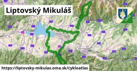 ikona Liptovský Mikuláš: 25km trás cykloatlas  liptovsky-mikulas