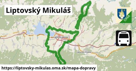 ikona Liptovský Mikuláš: 25km trás mapa-dopravy  liptovsky-mikulas