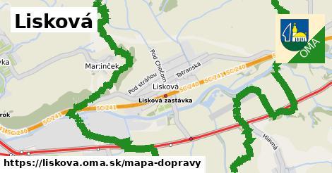 ikona Lisková: 13,8km trás mapa-dopravy v liskova