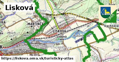 ikona Turistická mapa turisticky-atlas  liskova