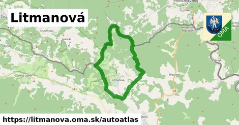 ikona Mapa autoatlas  litmanova