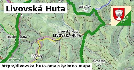 ikona Livovská Huta: 6,5km trás zimna-mapa  livovska-huta
