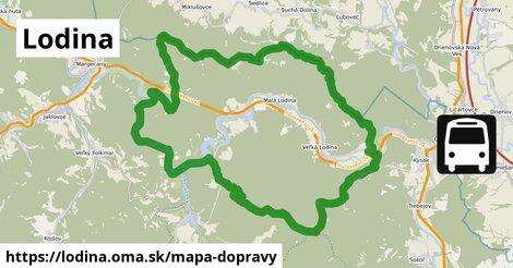 ikona Lodina: 22km trás mapa-dopravy  lodina