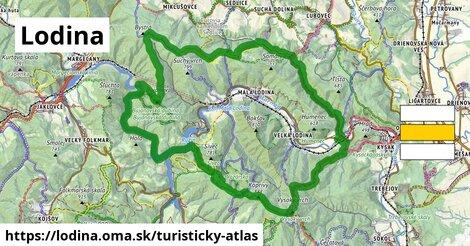ikona Turistická mapa turisticky-atlas  lodina