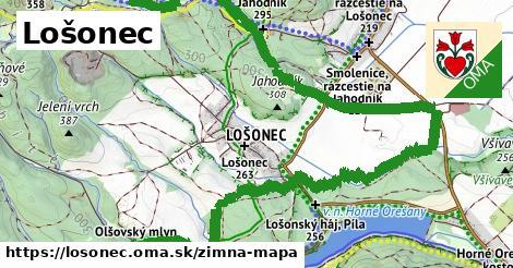 ikona Lošonec: 112m trás zimna-mapa  losonec
