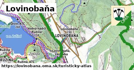 ikona Turistická mapa turisticky-atlas  lovinobana