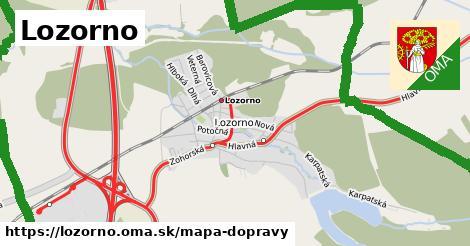 ikona Lozorno: 272km trás mapa-dopravy  lozorno