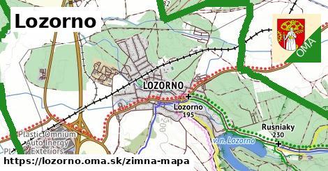 ikona Lozorno: 20km trás zimna-mapa  lozorno