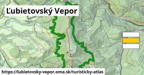 ikona Ľubietovský Vepor: 3,2km trás turisticky-atlas  lubietovsky-vepor